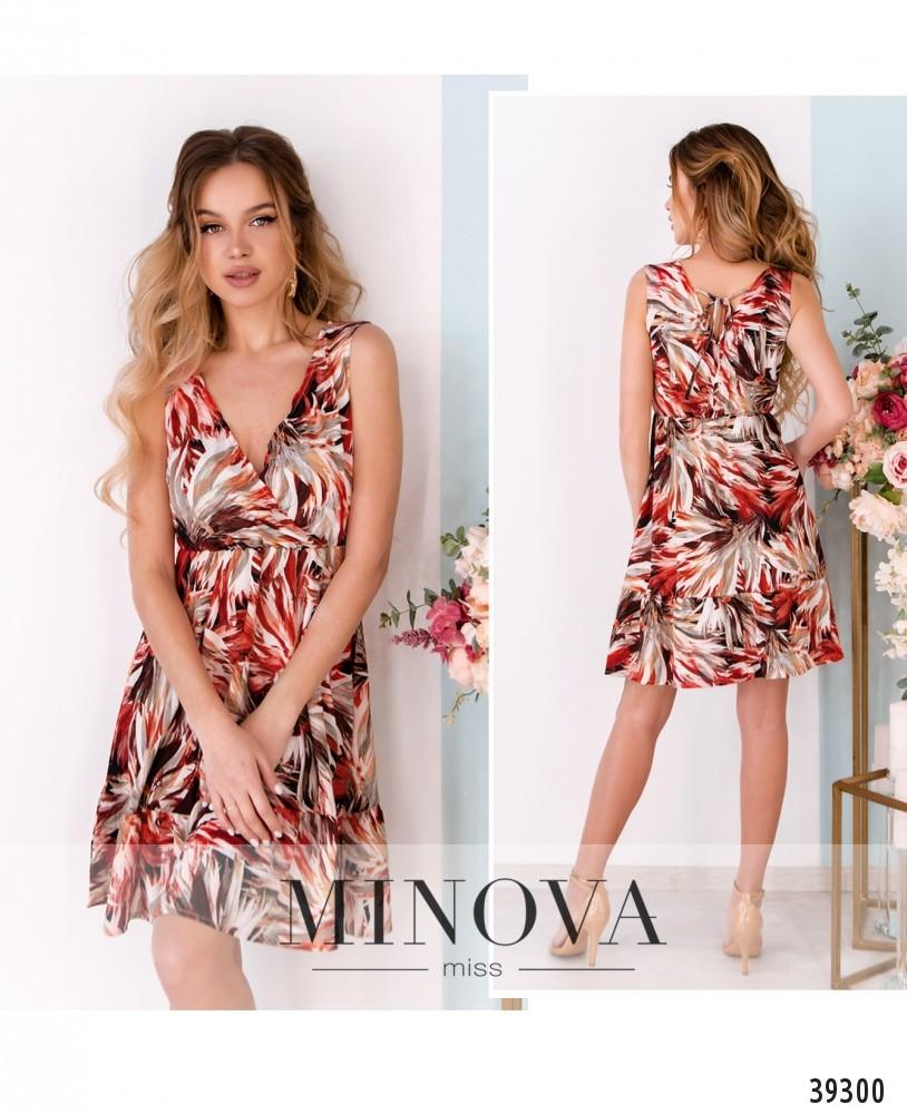 Платье №08-красный-М