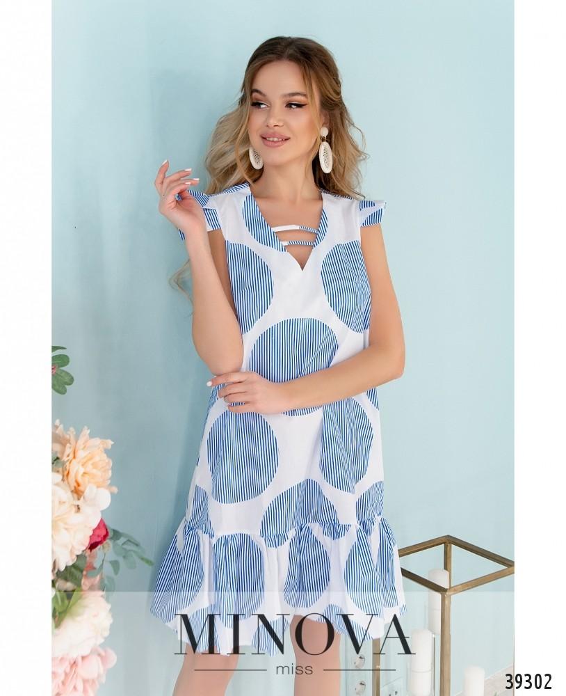 Платье №10-голубой (н)
