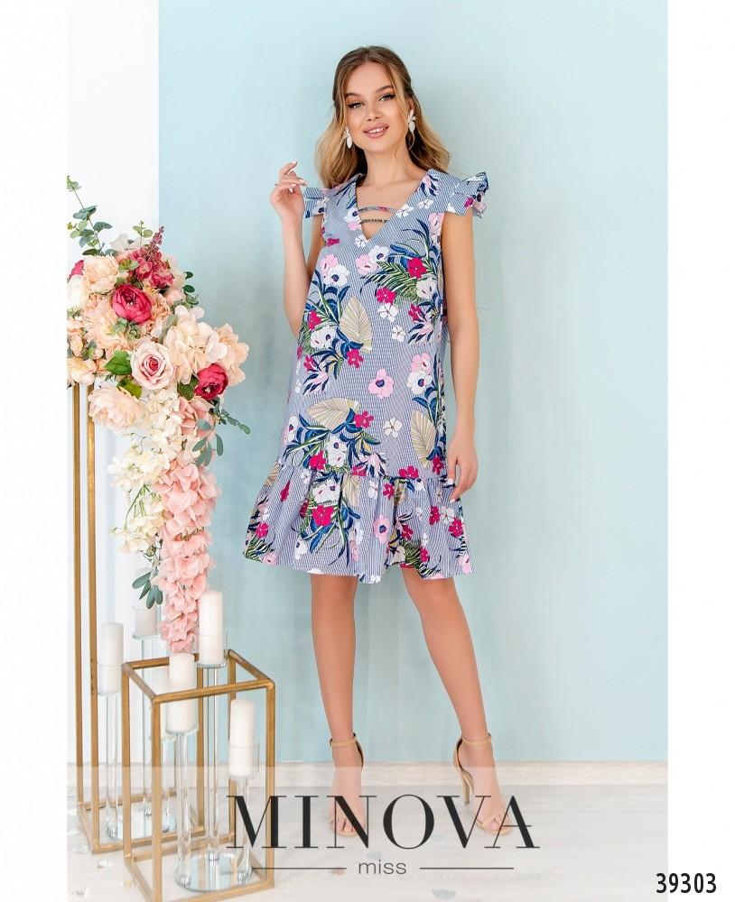 Платье №10-синий (н)