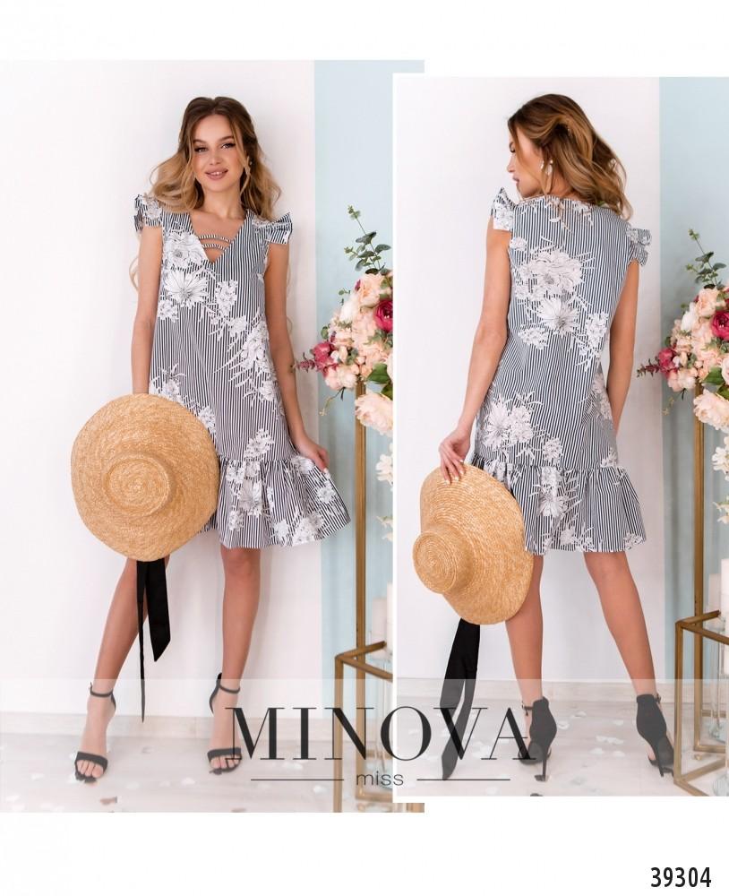 Платье №10-серый-М