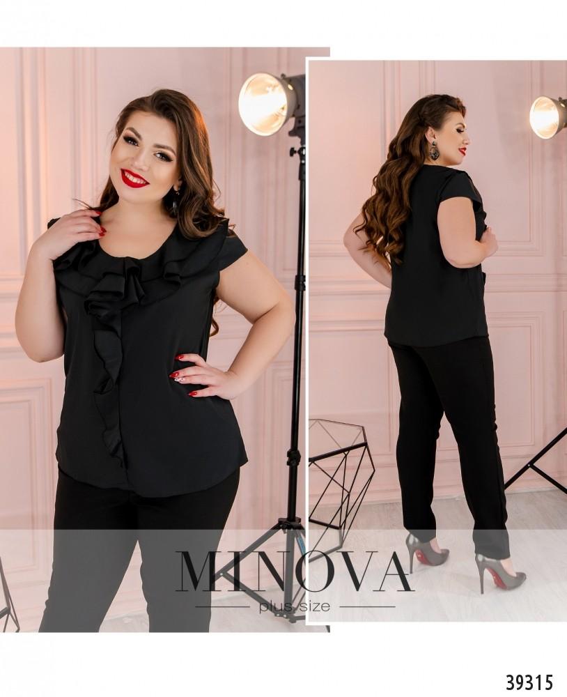 Рубашка №159Б-черный-М
