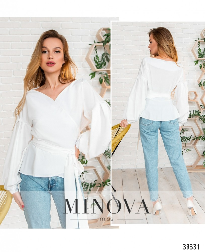 Рубашка №4123-белый-М