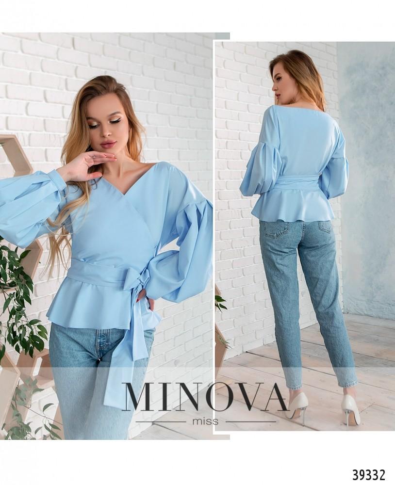 Рубашка №4123-голубой-М