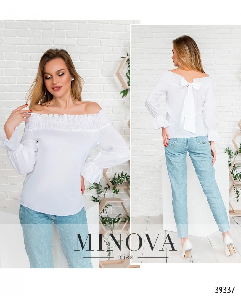 Блуза №4122-белый-М