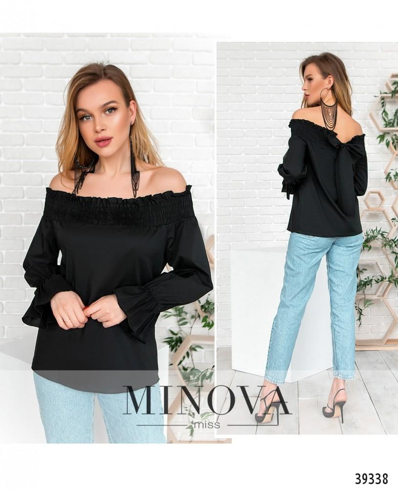 Блуза №4122-чёрный-М