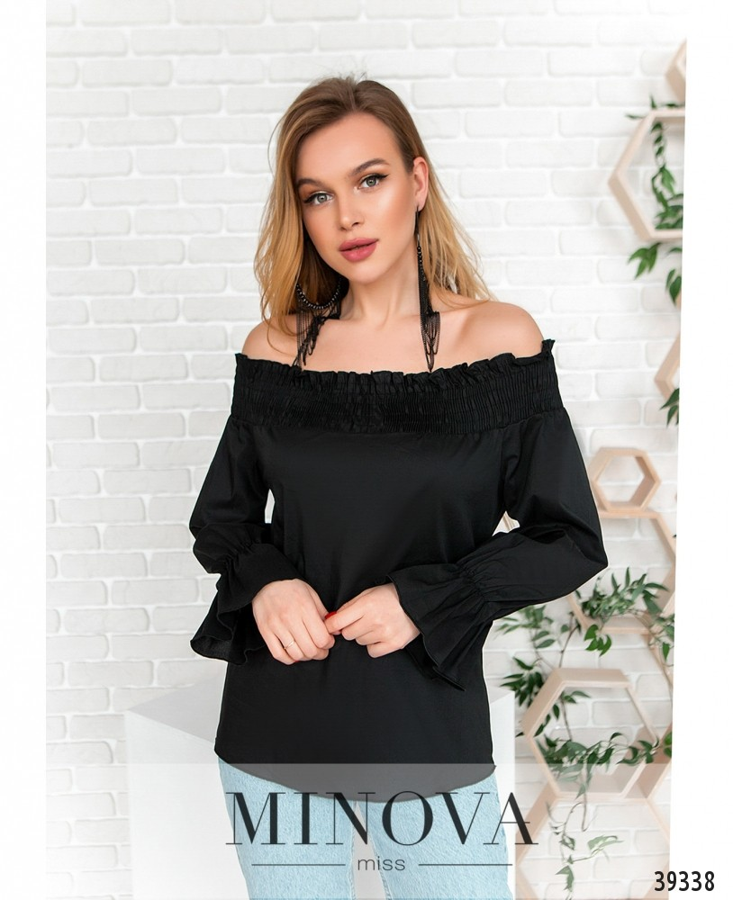Блуза №4122-чёрный (н)