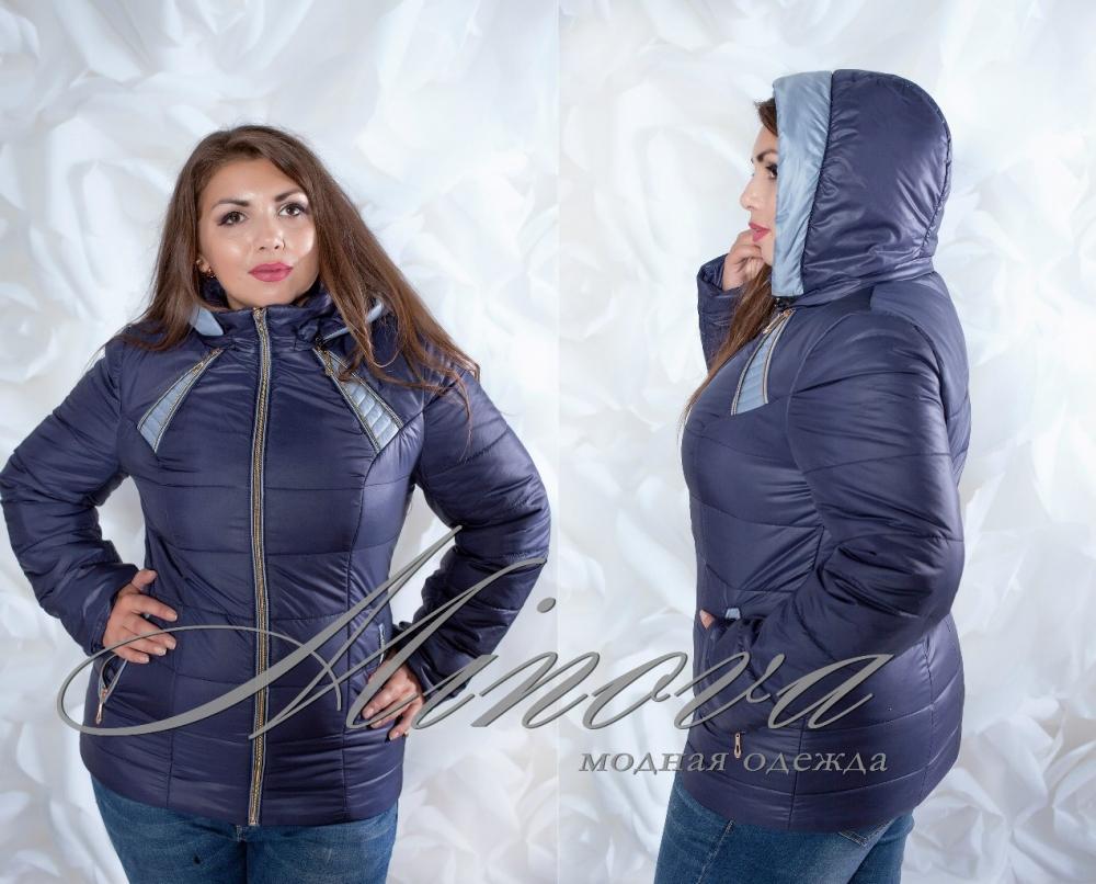 Куртка №0091-тем.синий