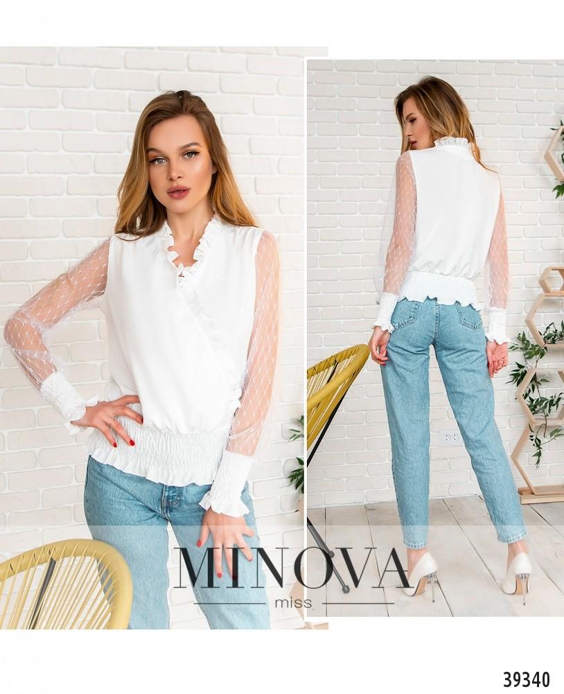 Рубашка №4118-белый-М