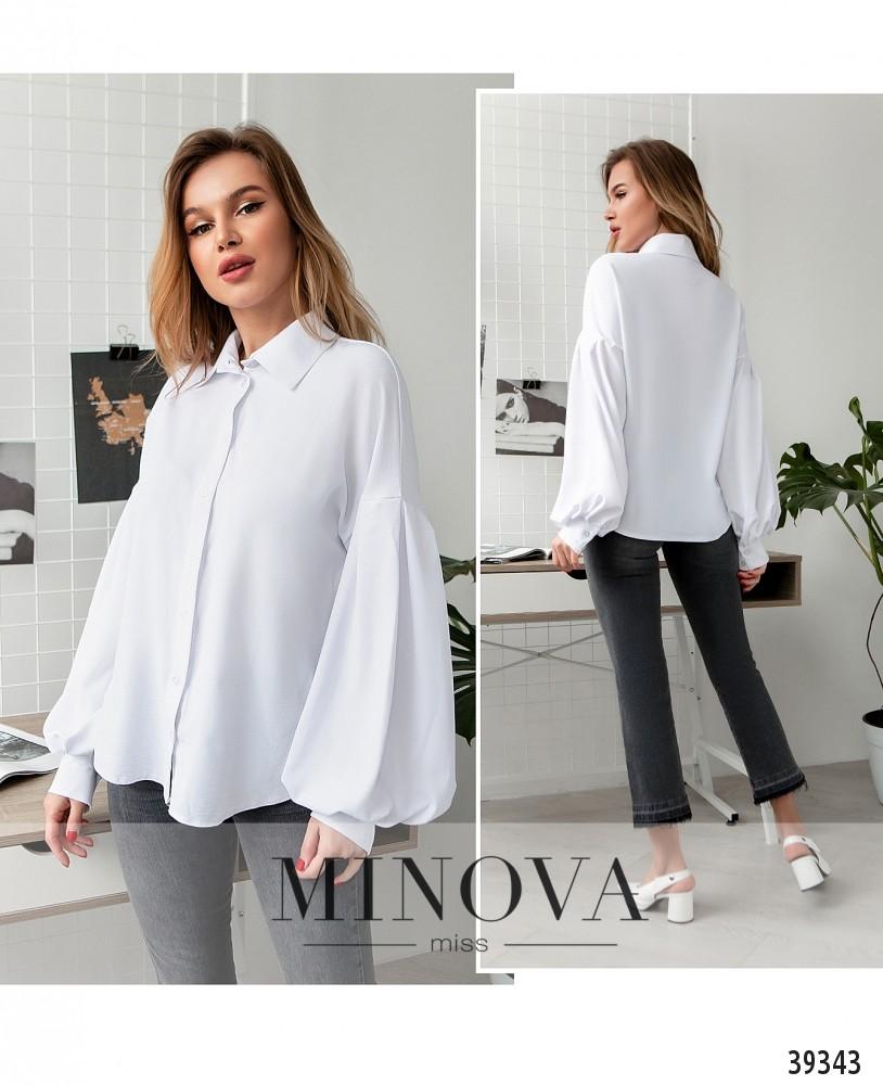 Рубашка №4117-белый-М