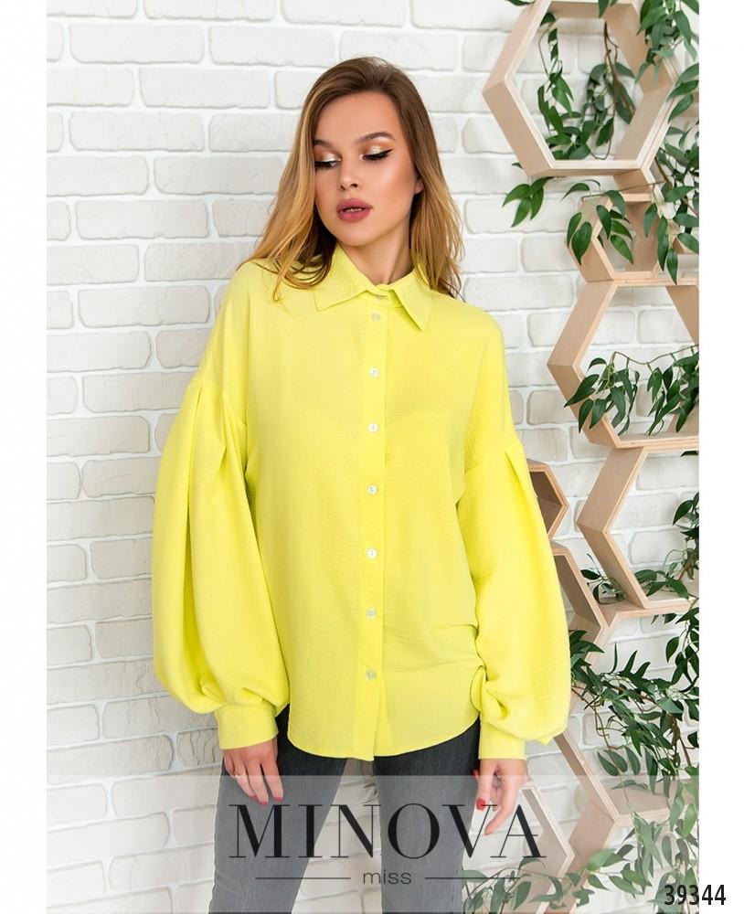 Рубашка №4117-жёлтый (н)