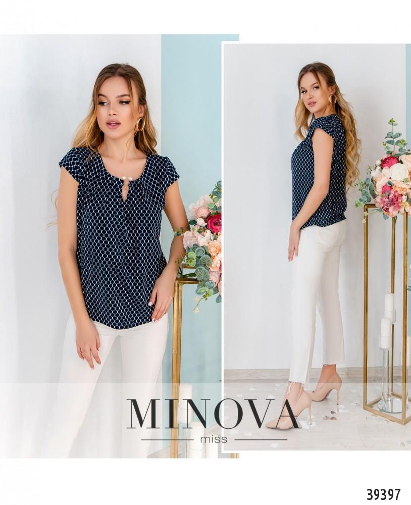 Рубашка №157-синие-соты-М