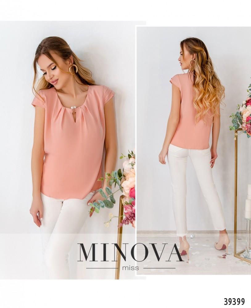 Рубашка №157-пудра-М