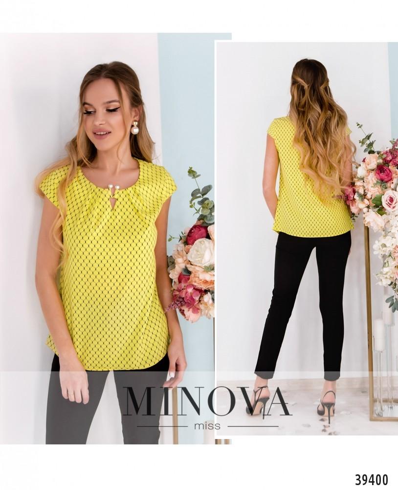 Рубашка №157-жёлтые-соты-М