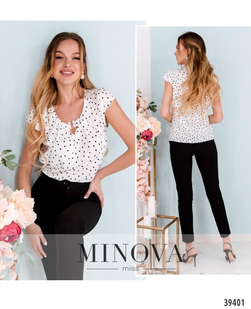 Рубашка №157-белый-горох-М