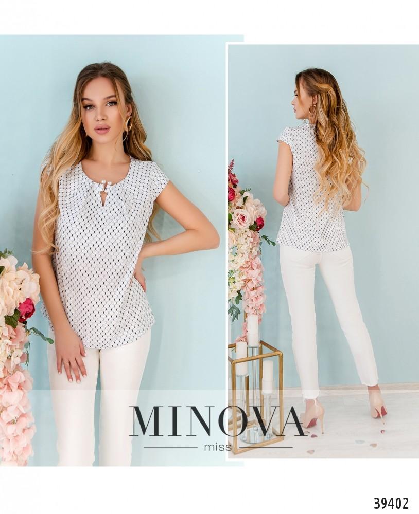 Рубашка №157-белые-соты-М