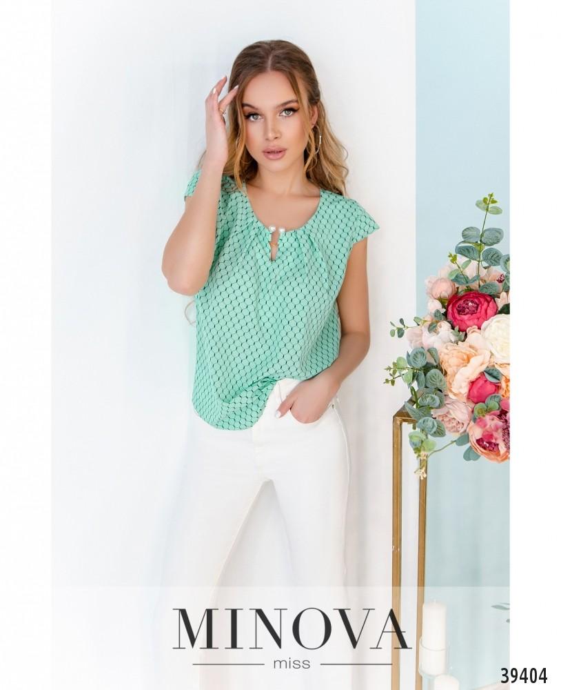 Рубашка №157-мята-соты (н)