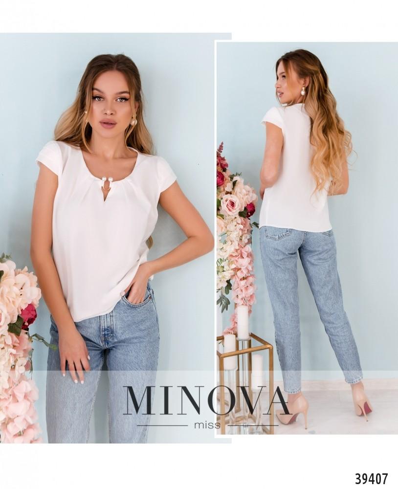 Рубашка №157-белый-М