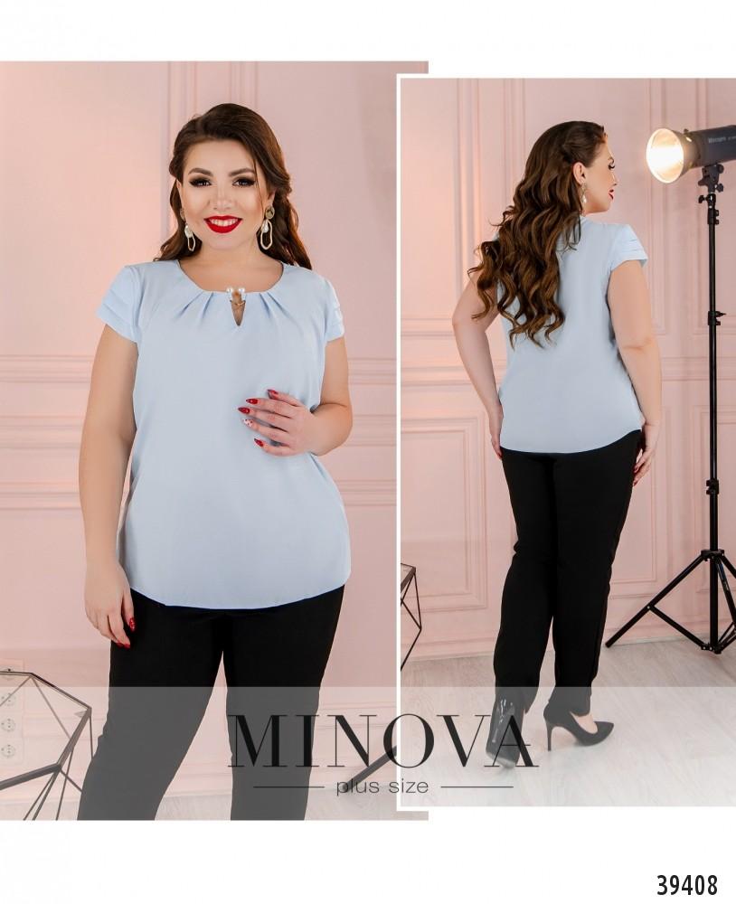 Рубашка №157Б-голубой-М