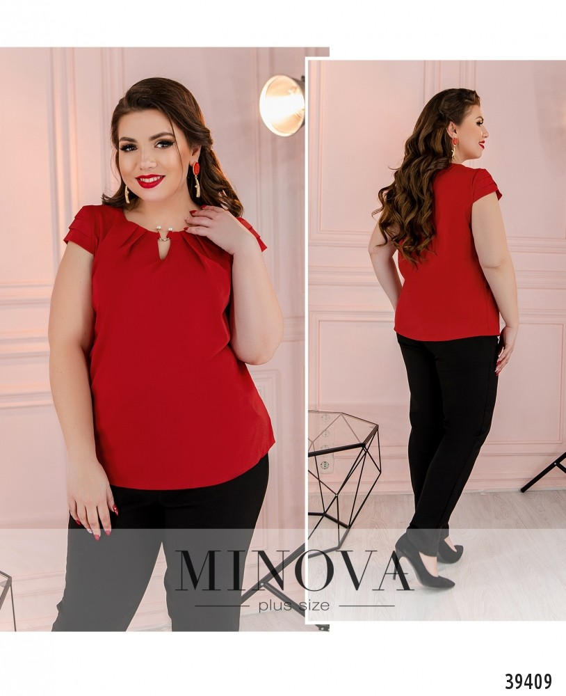 Рубашка №157Б-красный-М