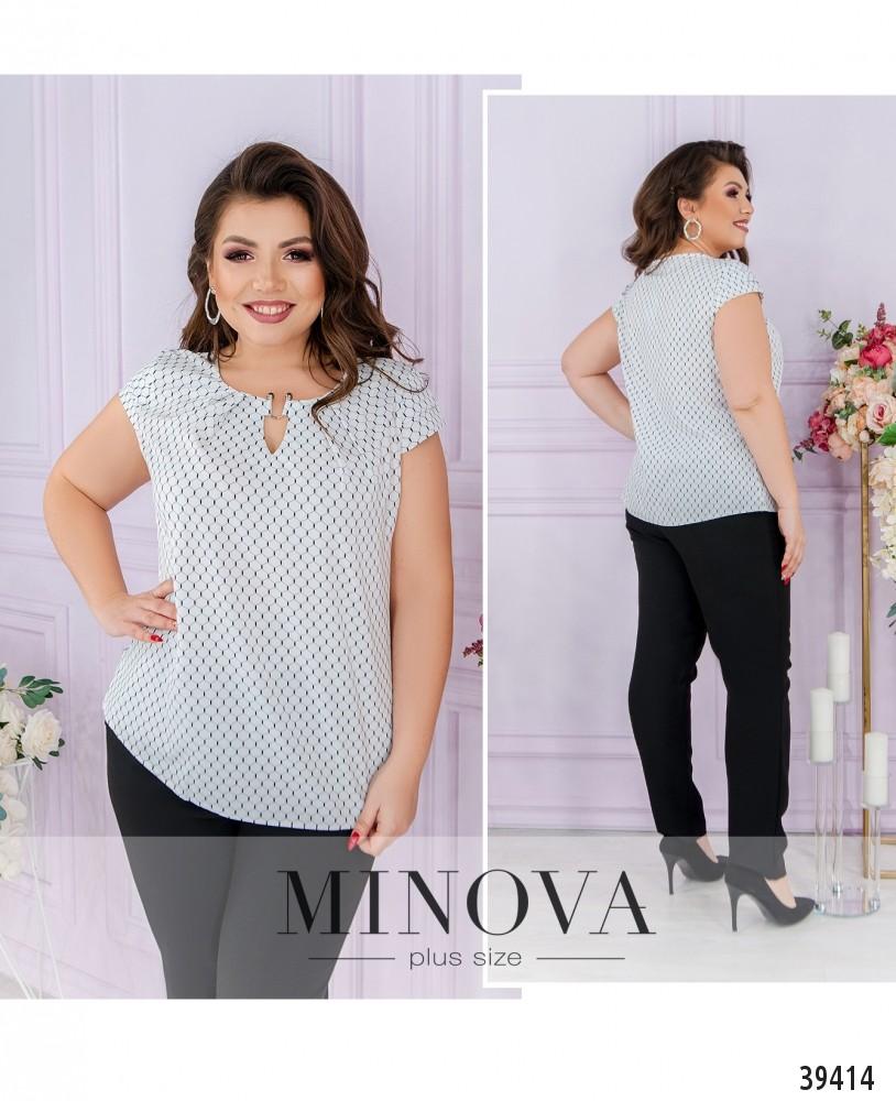Рубашка №157Б-белые-соты-М