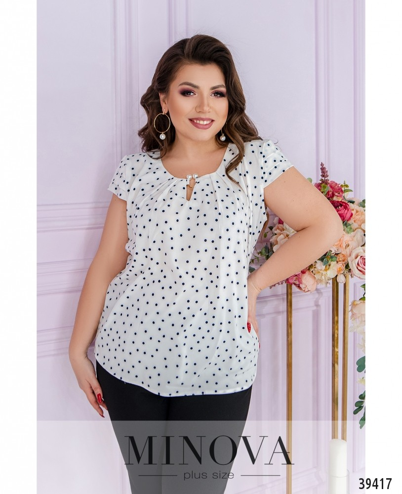 Рубашка №157Б-белый-горох