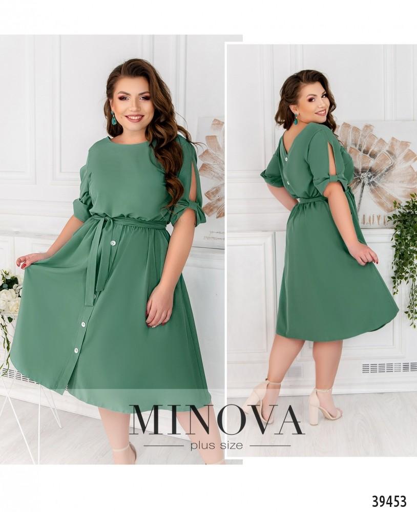 Платье №17-204-бирюза-М