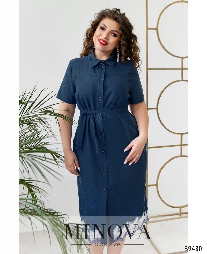 Платье №419-джинс