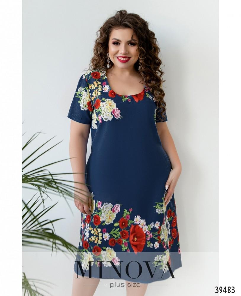 Платье №423Б-джинс