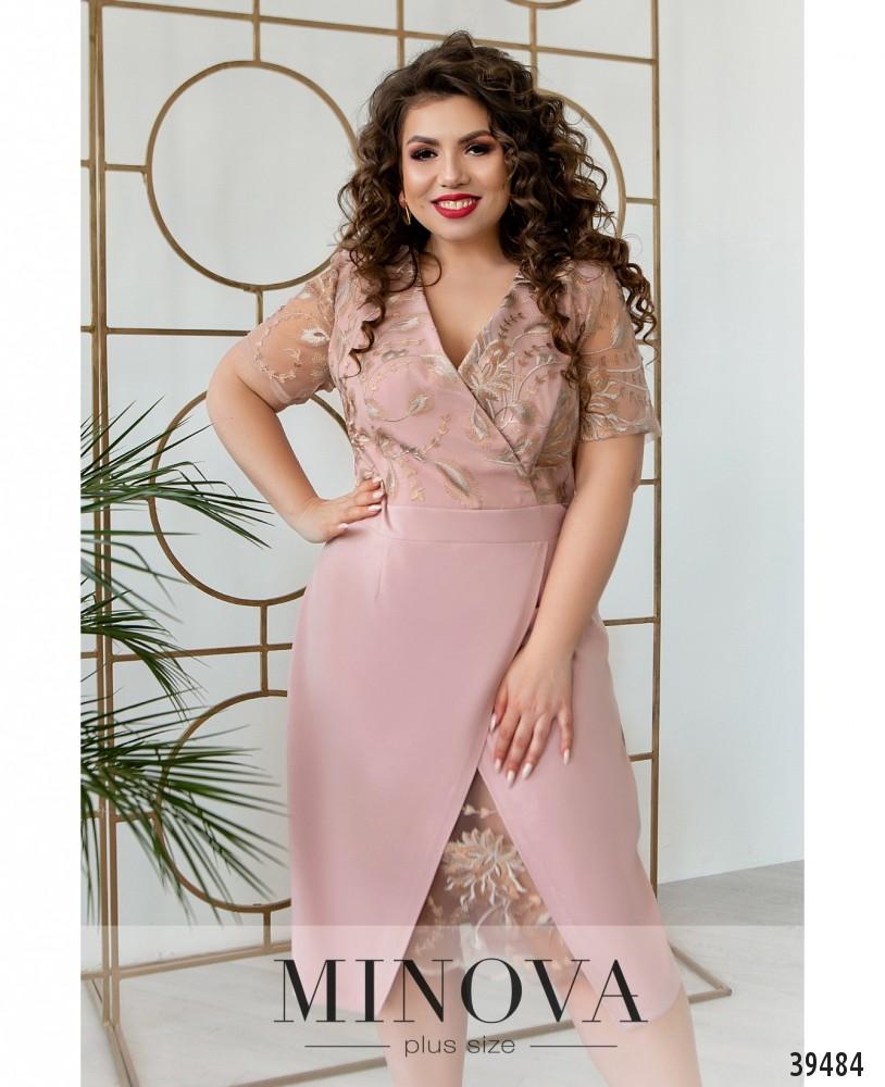 Платье №422Б-розовый