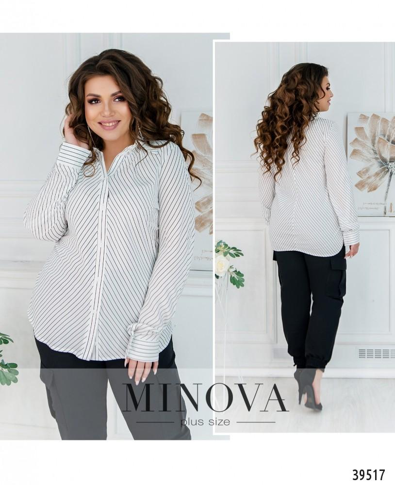 Рубашка №241-мелкая-полоска-М