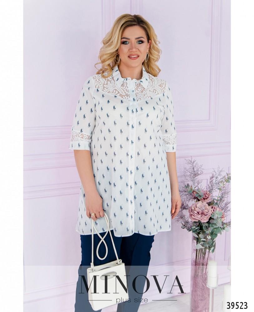Рубашка №40021-1-белый