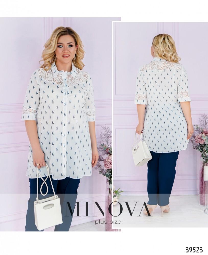 Рубашка №40021-1-белый-М