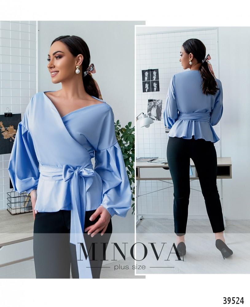 Рубашка №4123Б-голубой-М