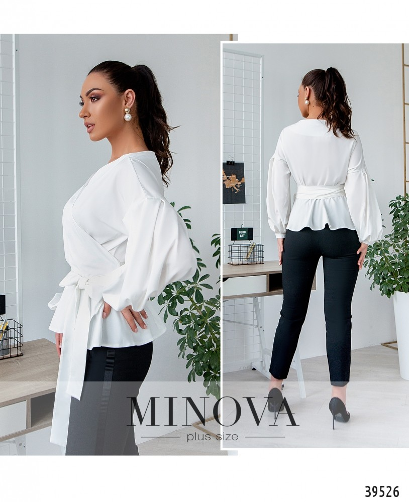 Рубашка №4123Б-белый-М