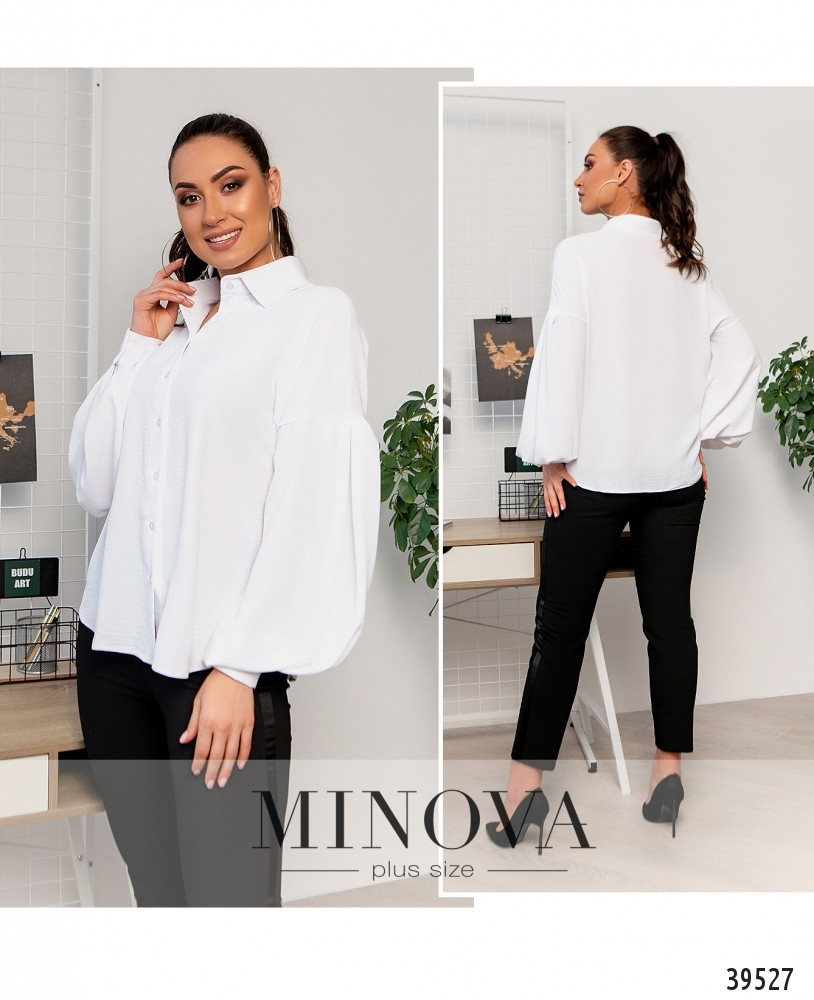 Рубашка №4117Б-белый-М