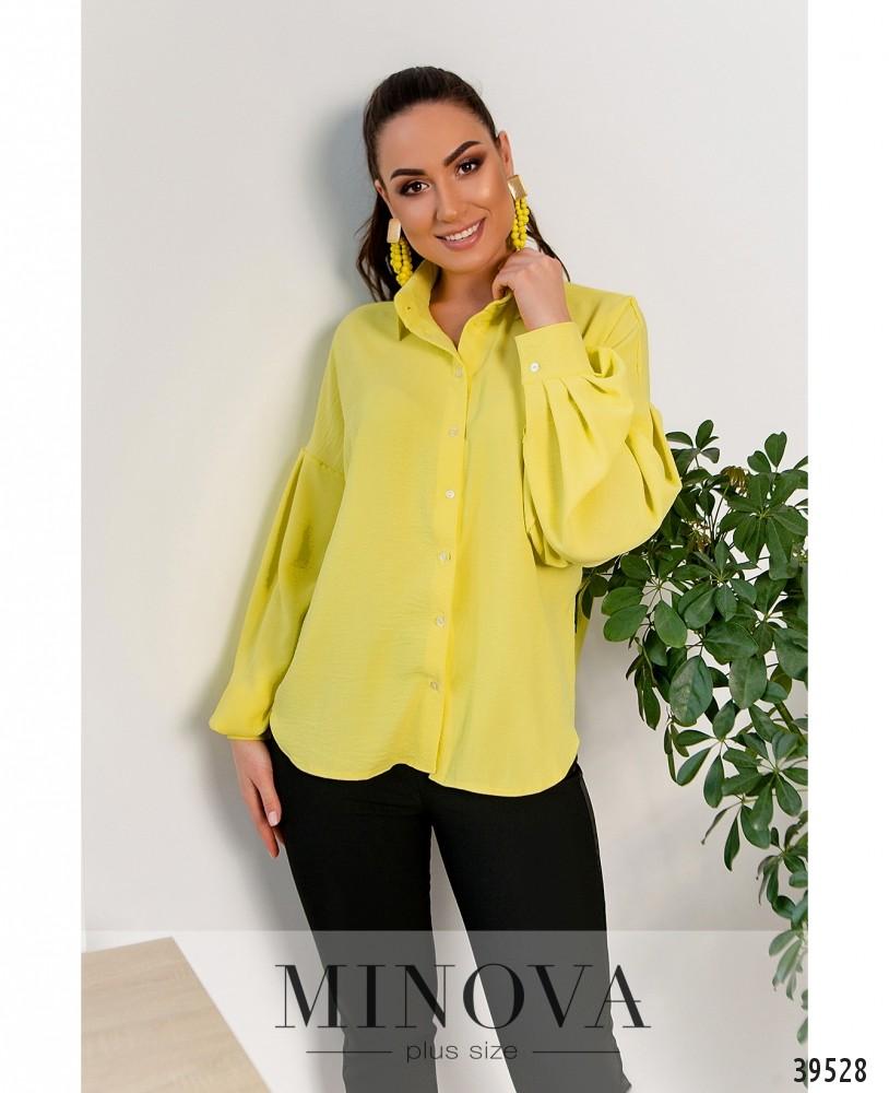 Рубашка №4117Б-жёлтый