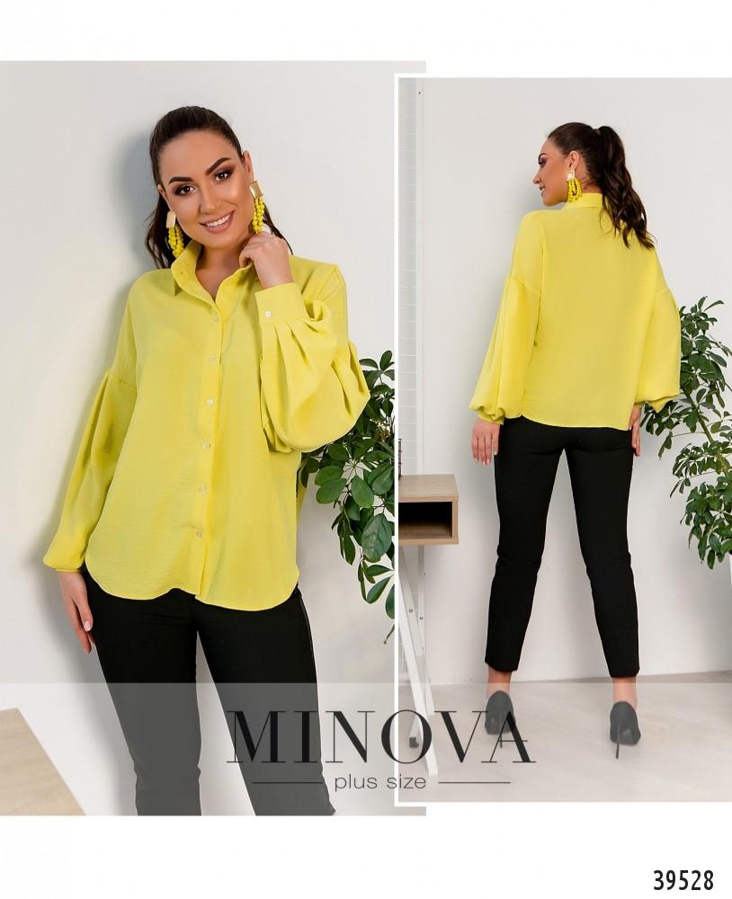 Рубашка №4117Б-жёлтый-М