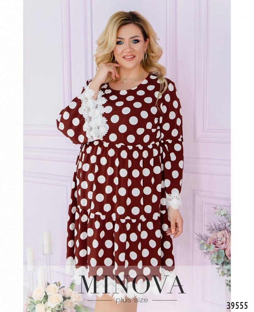 Платье №842-кирпичный