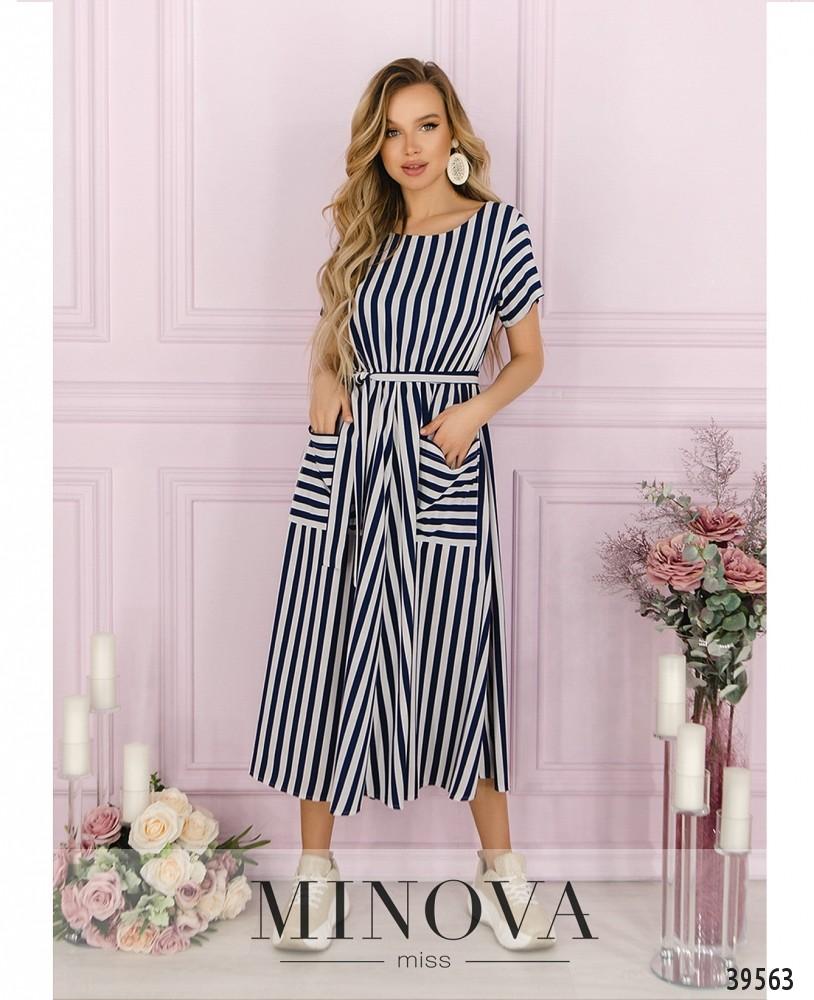 Платье №4164-синий (н)