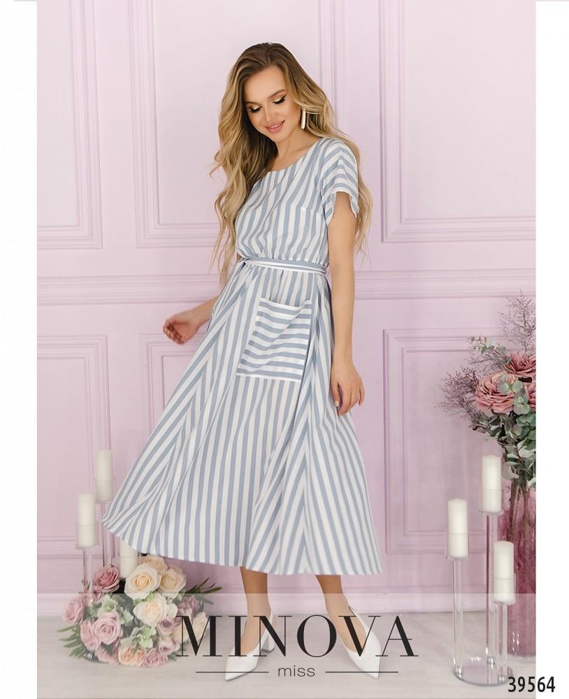 Платье №4164-голубой (н)