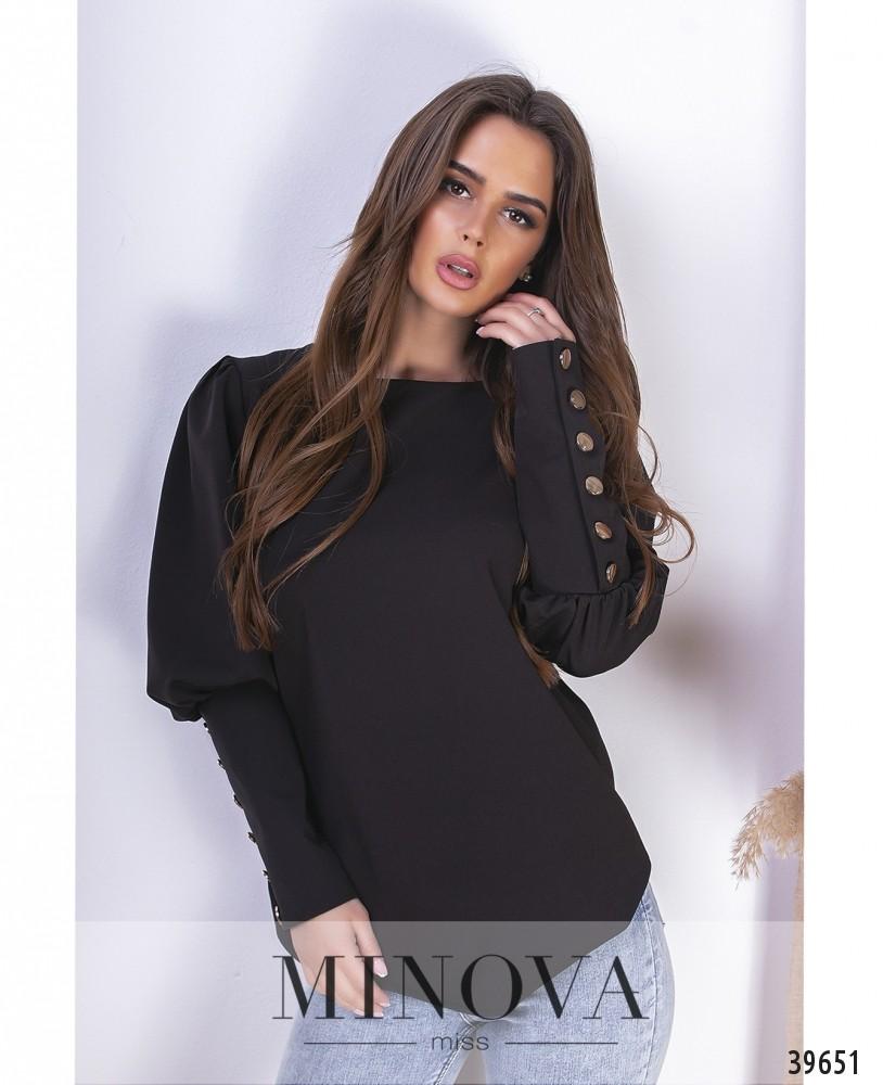 Блуза №1492-чёрный (н)