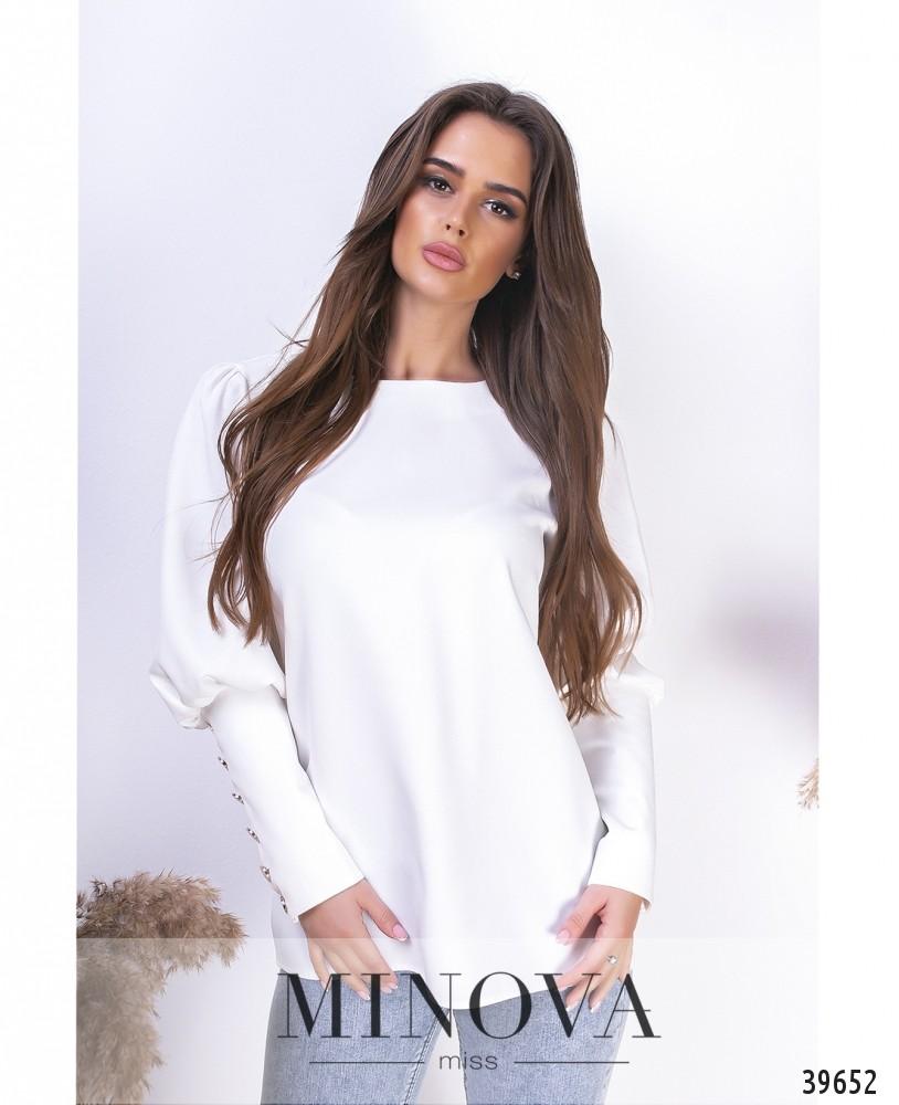Блуза №1492-белый (н)