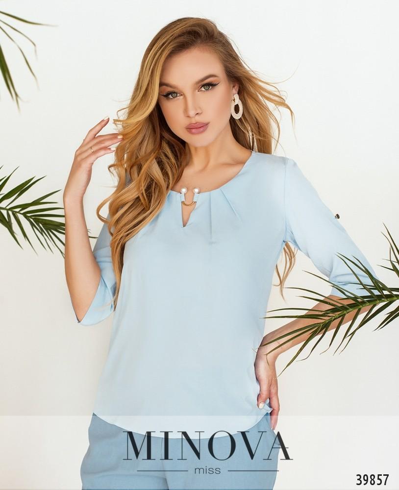 Рубашка №157-1-голубой (н)