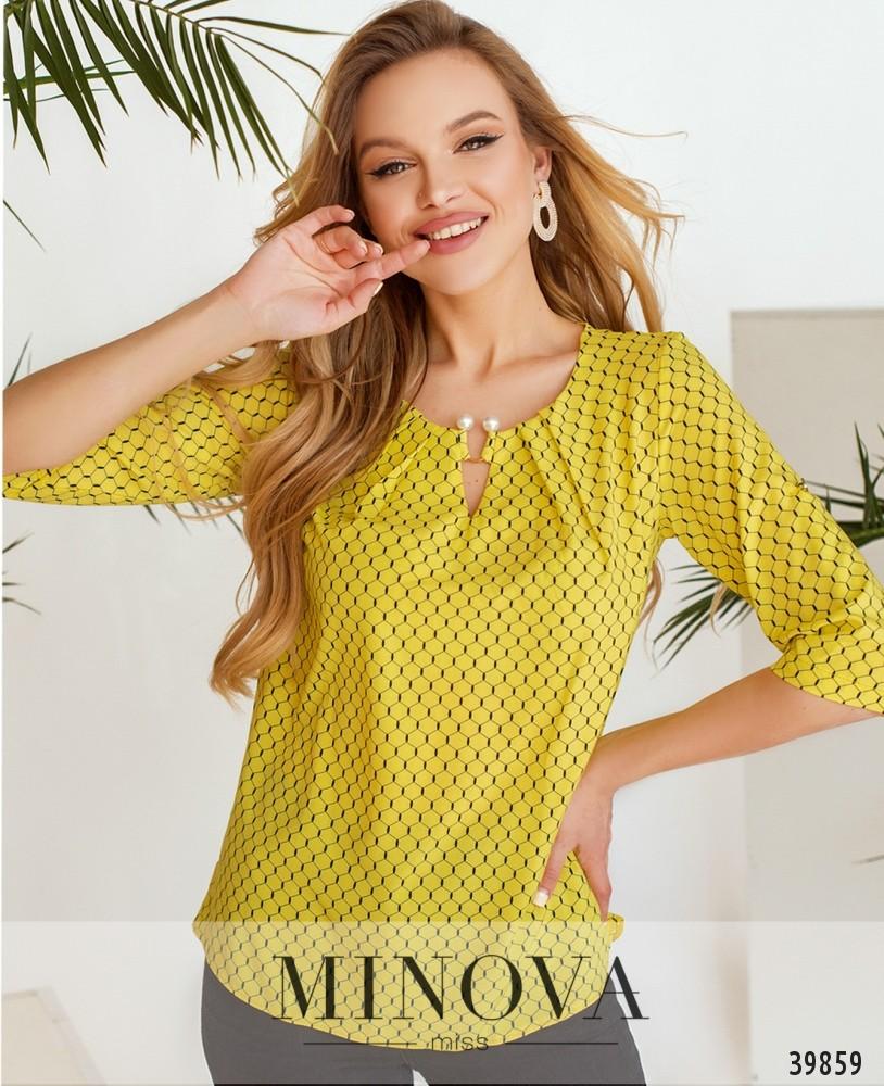 Рубашка №157-1-жёлтые-соты (н)