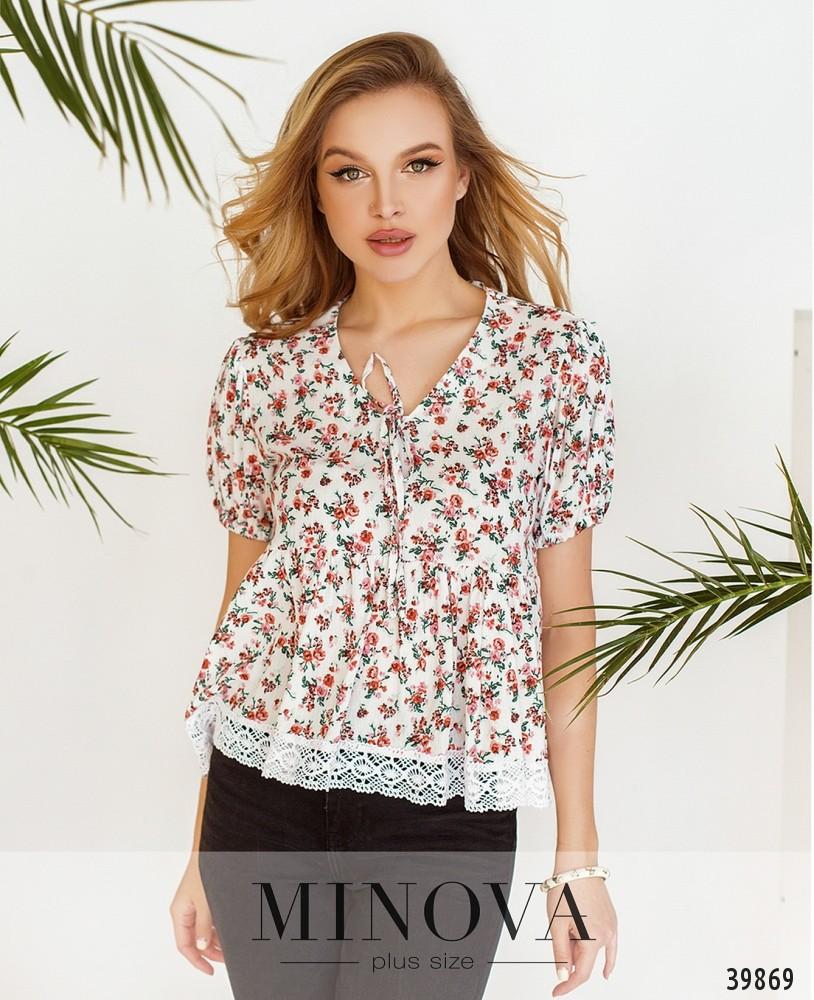 Блуза №27-Белый (н)