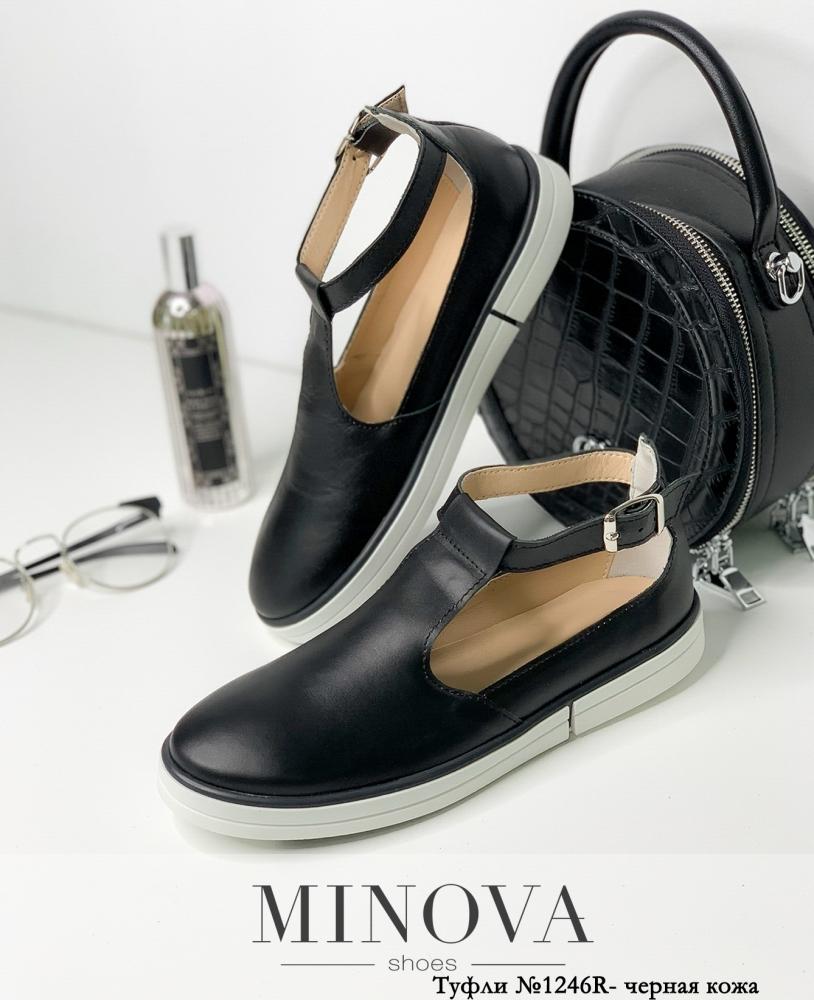 Туфли MA1246R-черная кожа