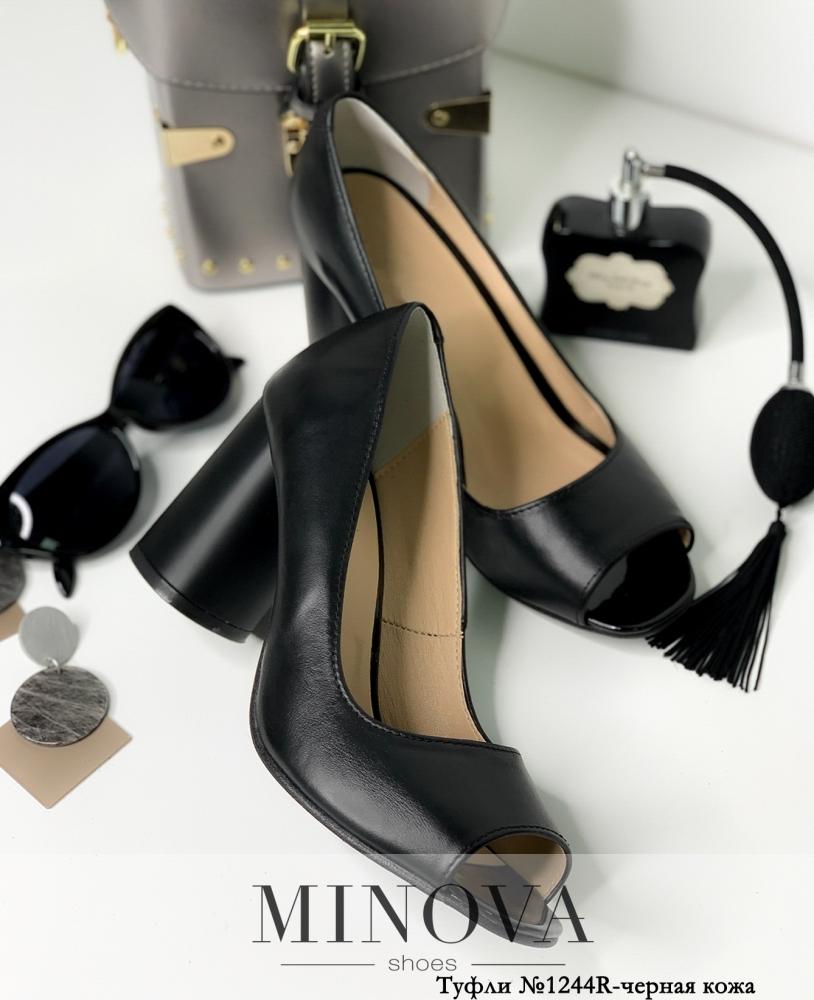 Туфли MA1244R-черная кожа