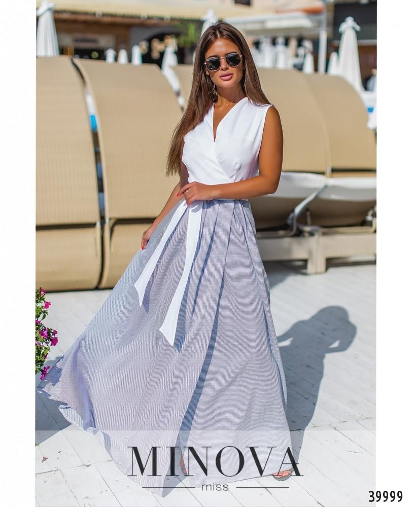 Платье №1325-синий (н)