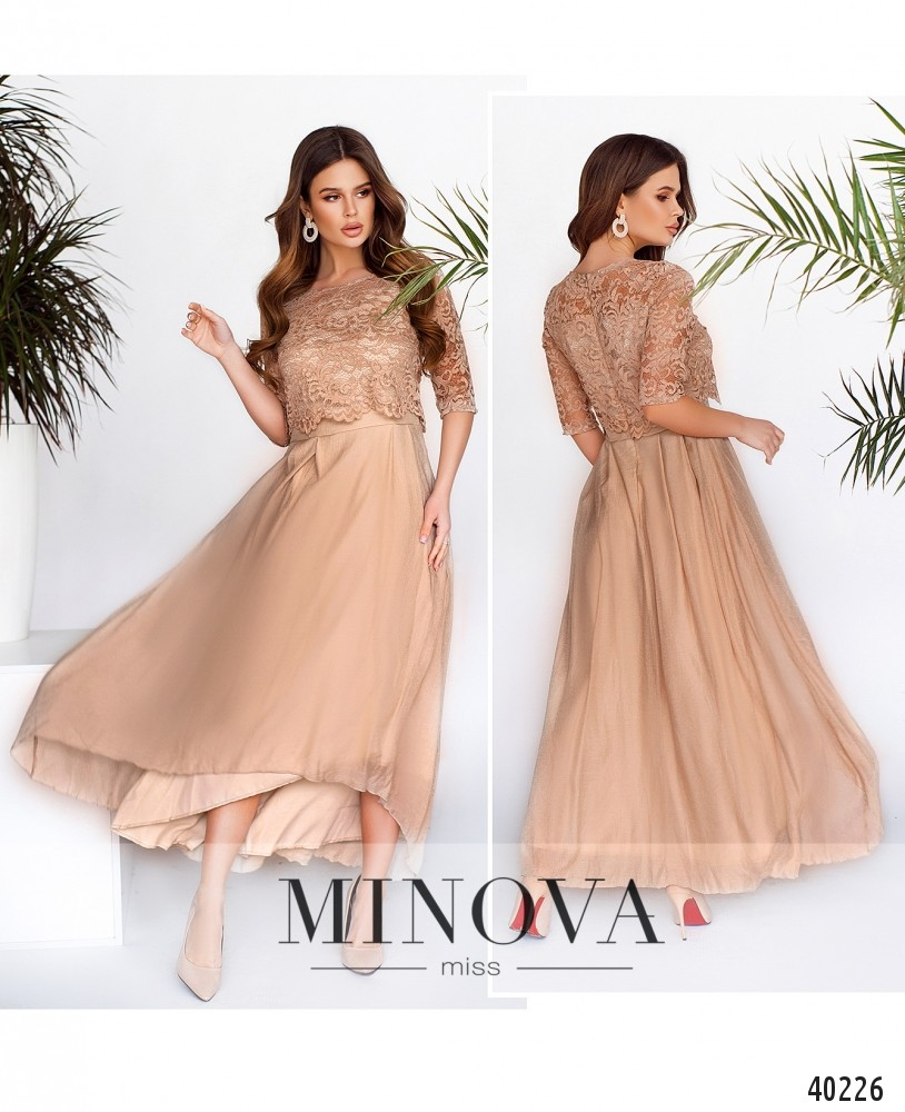 Платье №2104-бежевый -MV