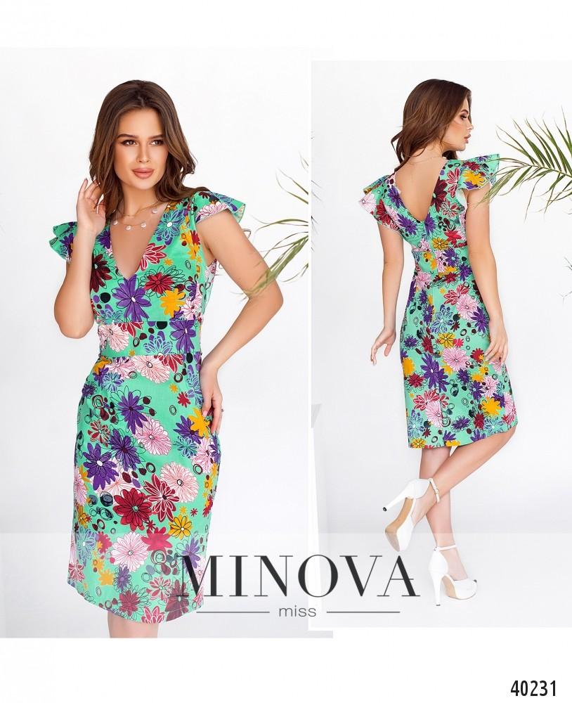 Платье №514Н-мята-MV